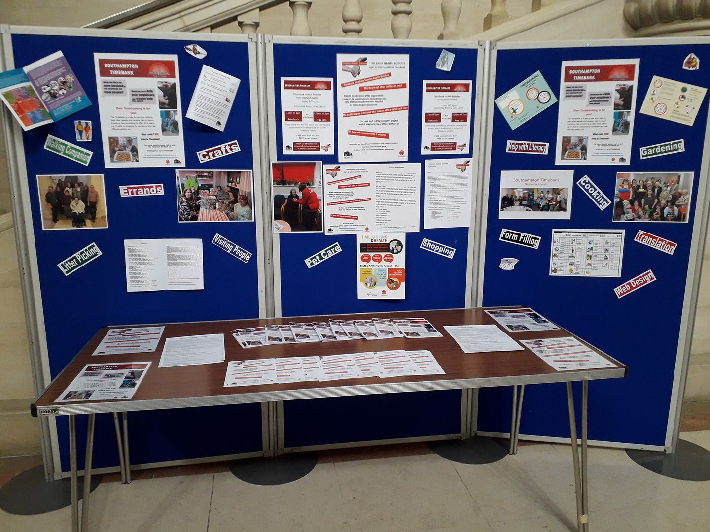 Promoting the Timebank @ Civic Centre