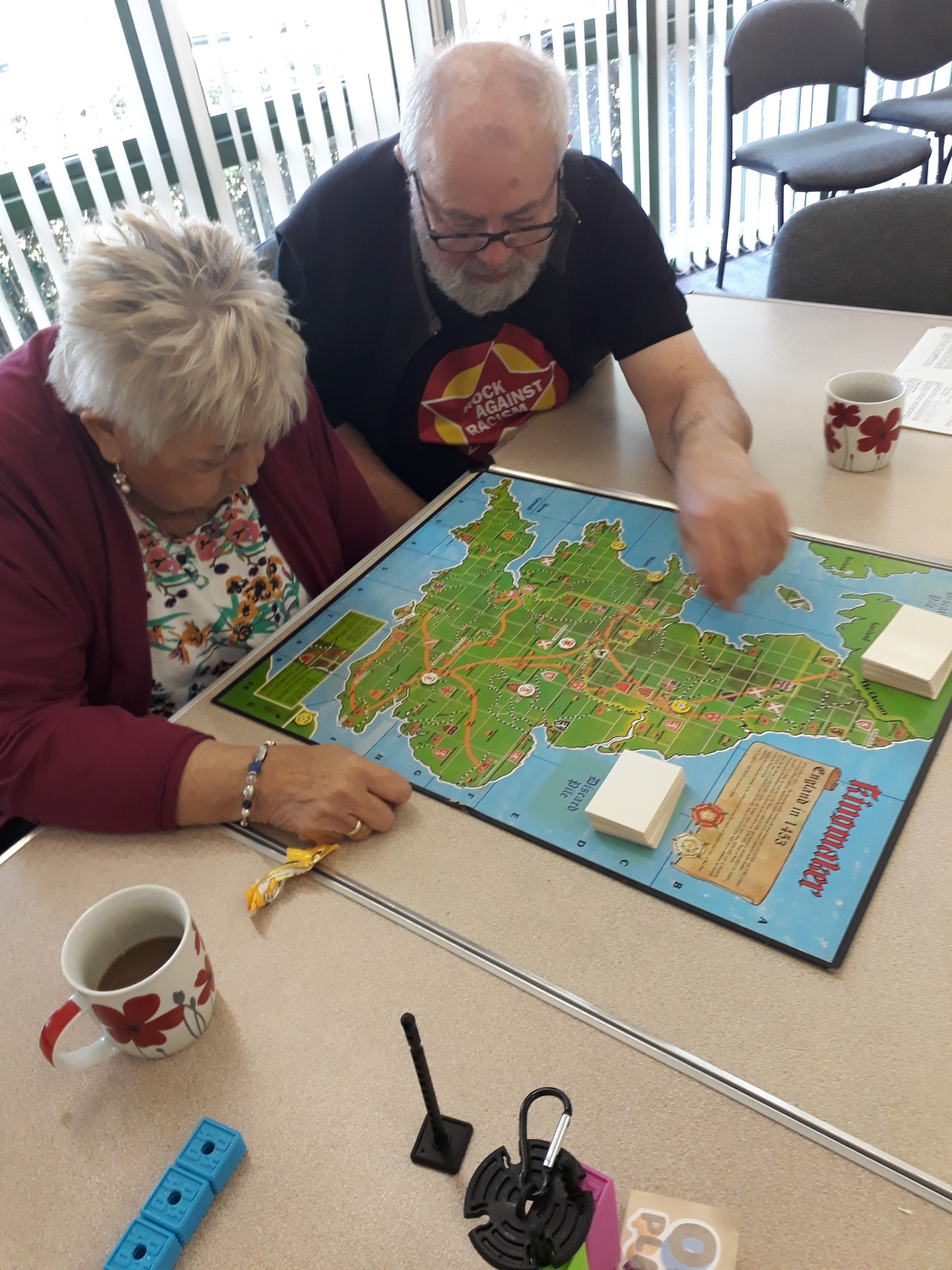 Members playing Kingmaker game